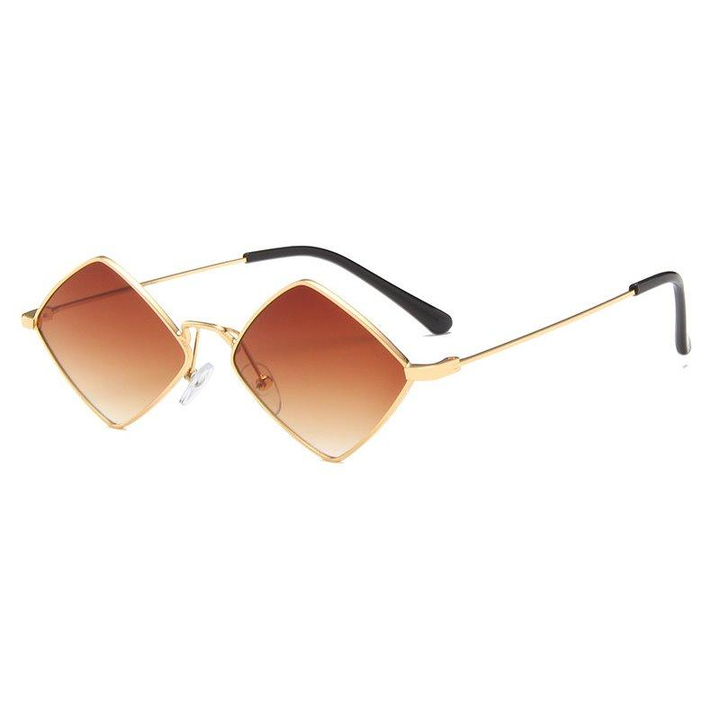 PL RhombLoox Sunglasses Sunglasses Posh Loox Gold x Brown poshloox