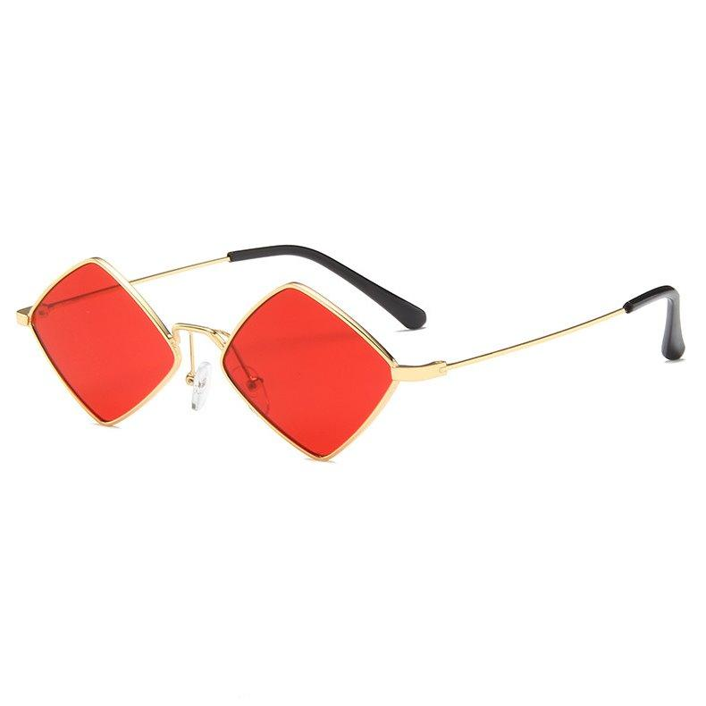 PL RhombLoox Sunglasses Sunglasses Posh Loox Gold x Red poshloox