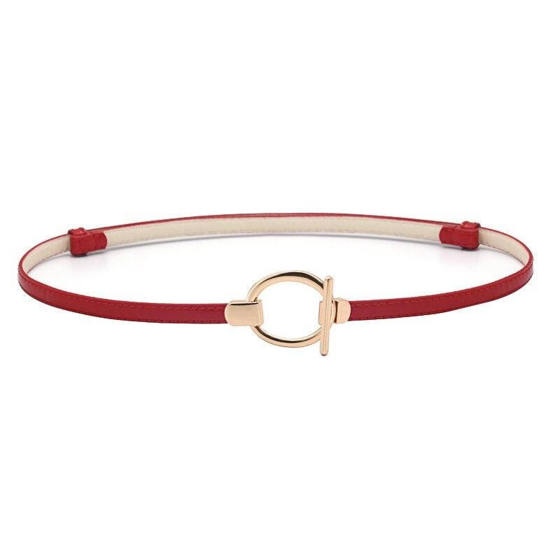 PL T-Lock Belt Belt Posh Loox Red x Gold 100CM / 39.38IN poshloox