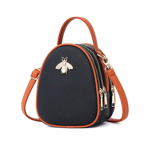 Queen Bee Backpack Posh Loox Black x Tangerine poshloox