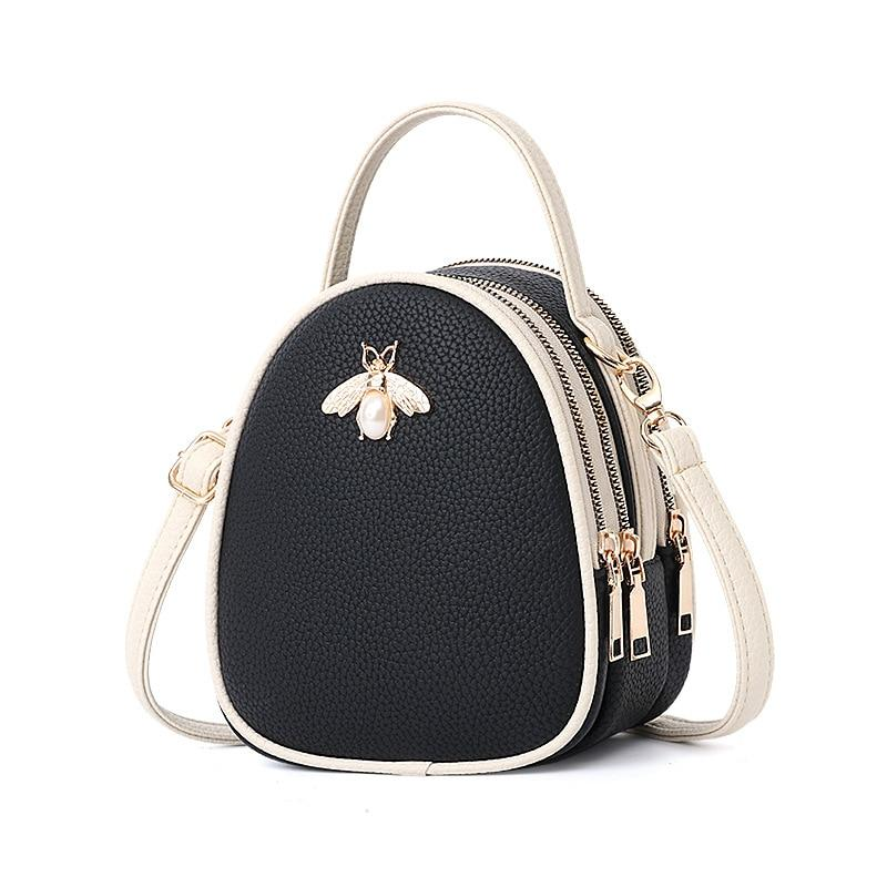 Queen Bee Backpack Posh Loox Black x White poshloox