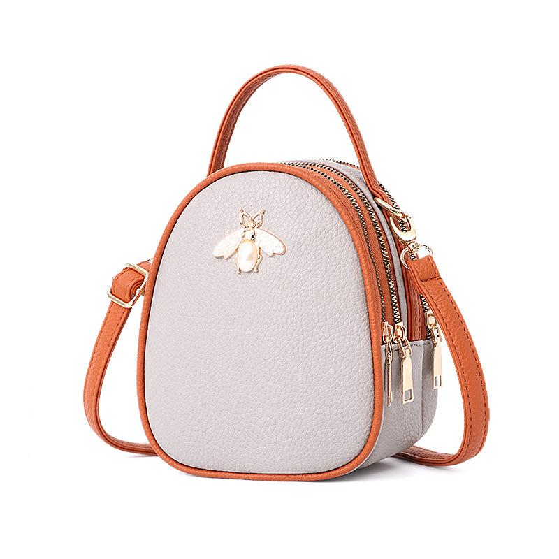 Queen Bee Backpack Posh Loox Grey x Tangerine poshloox