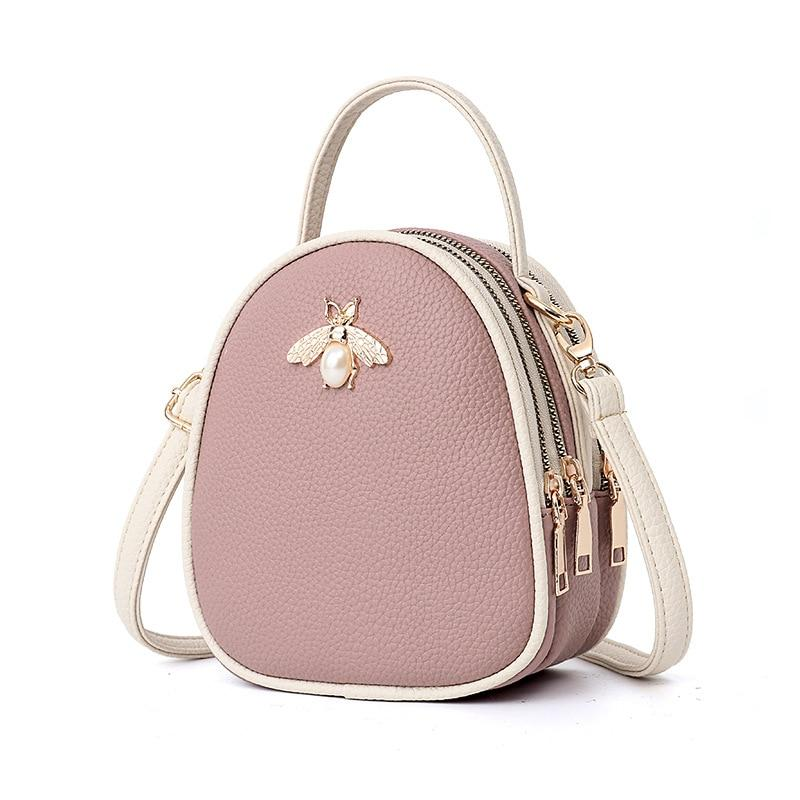 Queen Bee Backpack Posh Loox Mauve x White poshloox