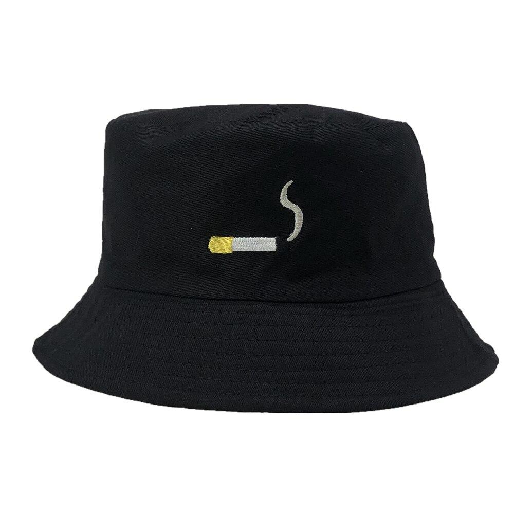 Retro Cigarette Bucket Hat Hat Posh Loox Black poshloox