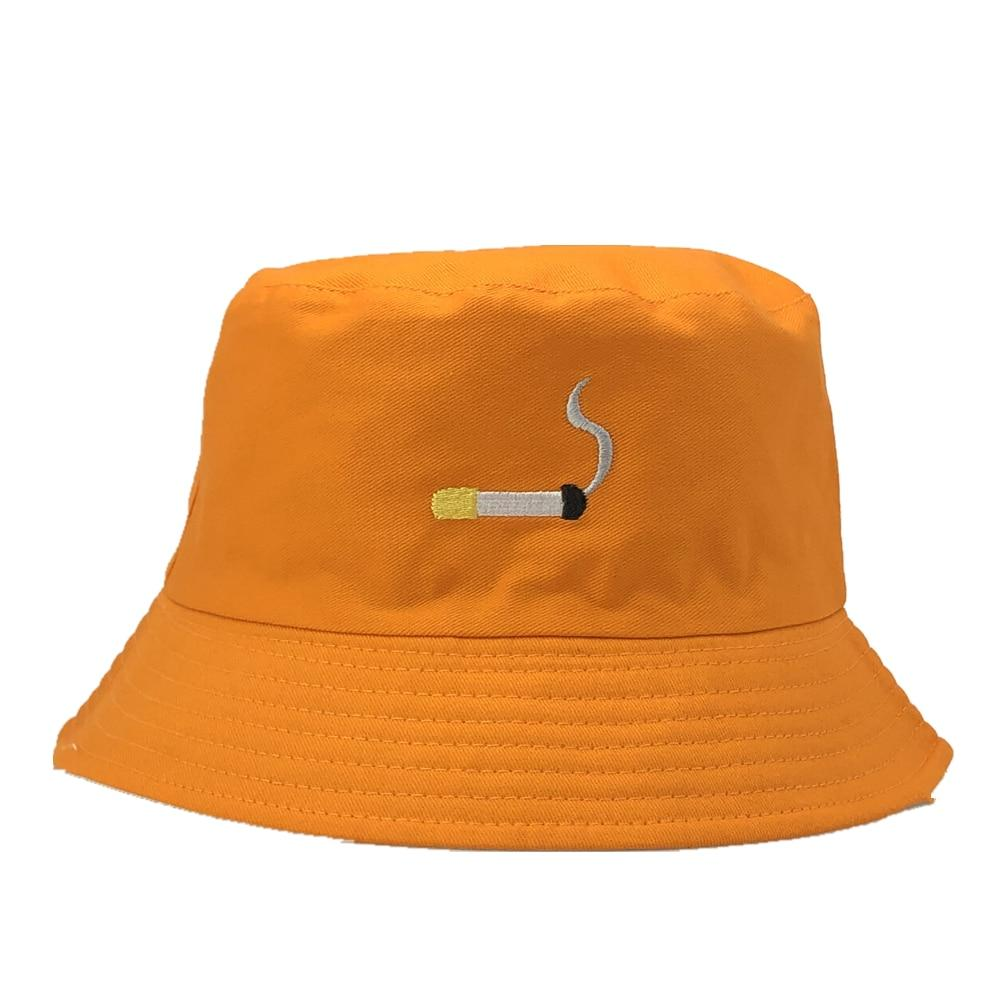 Retro Cigarette Bucket Hat Hat Posh Loox Orange poshloox