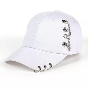 Rock Star Cap Hat Posh Loox White Adjustable poshloox