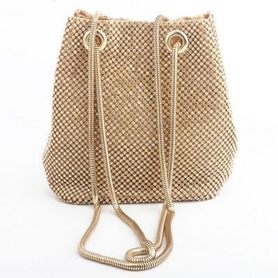Satiny Shoulder Bag Posh Loox Gold poshloox