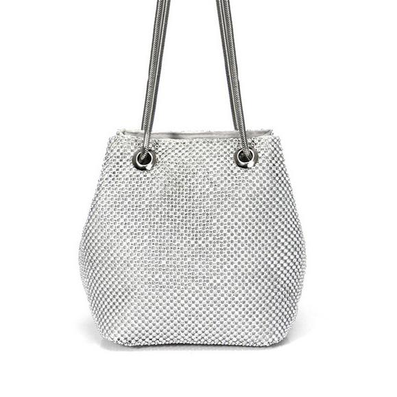 Satiny Shoulder Bag Posh Loox Silver poshloox