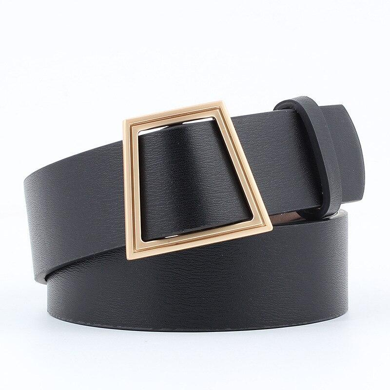 Slim Square Belt Belt Posh Loox Black 100CM / 39.38IN poshloox