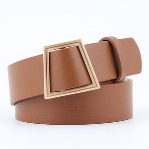 Slim Square Belt Belt Posh Loox Camel 100CM / 39.38IN poshloox