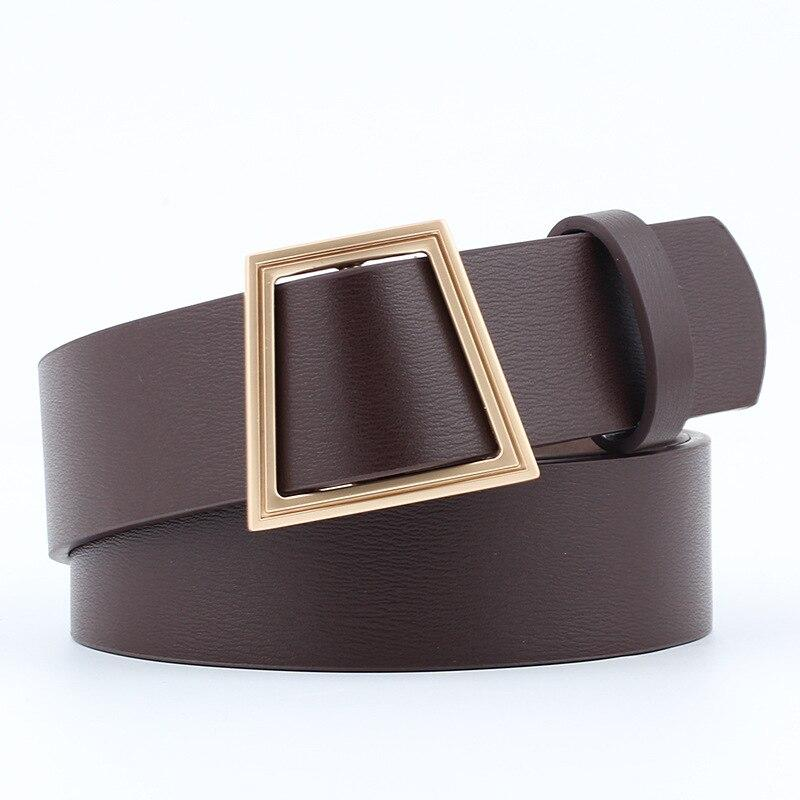 Slim Square Belt Belt Posh Loox Coffee 100CM / 39.38IN poshloox