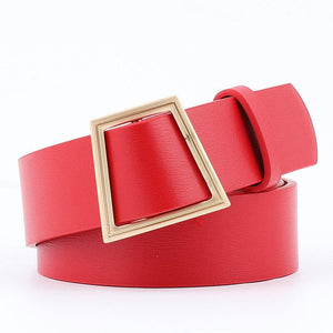 Slim Square Belt Belt Posh Loox Red 100CM / 39.38IN poshloox