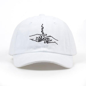 Stoner Cap Hat Posh Loox White Adjustable poshloox