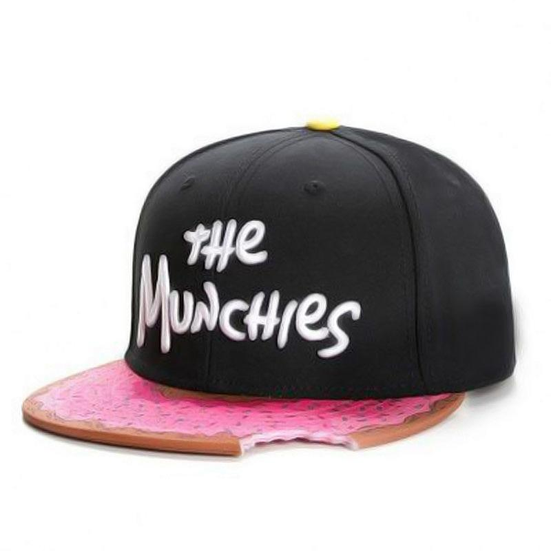 The Munchies Cap Hat Posh Loox Black x Pink Adjustable poshloox