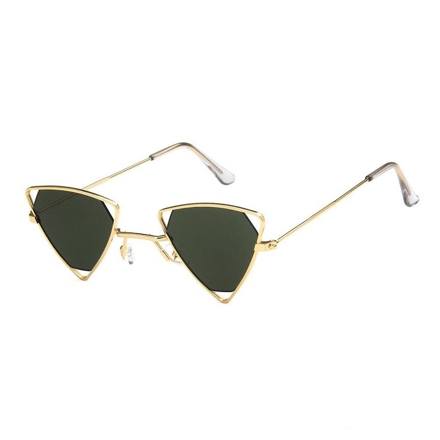 Triangle Loox Sunglasses Sunglasses Posh Loox Gold x Green poshloox