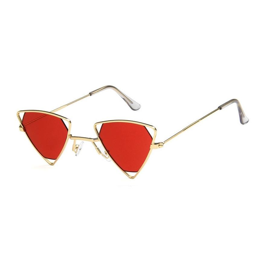 Triangle Loox Sunglasses Sunglasses Posh Loox Gold x Red poshloox