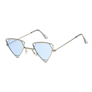 Triangle Loox Sunglasses Sunglasses Posh Loox Silver x Blue poshloox