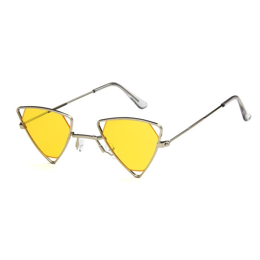 Triangle Loox Sunglasses Sunglasses Posh Loox Silver x Yellow poshloox