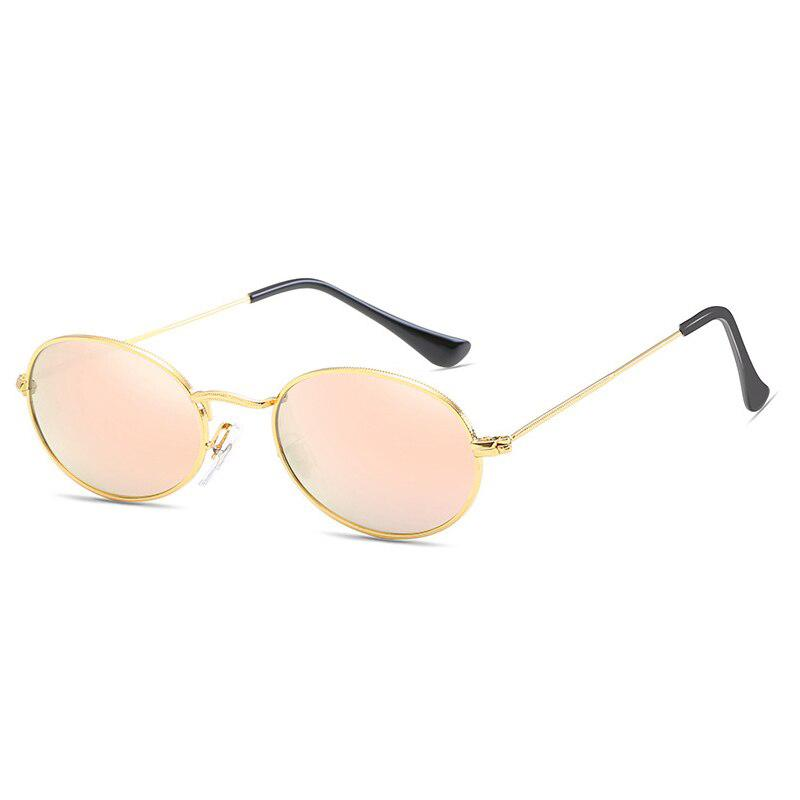 Vintage Oval Sunglasses Sunglasses Posh Loox Gold x Mint x Pink poshloox