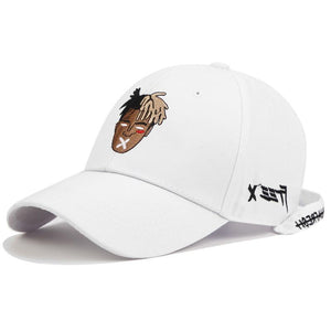XXXTentacion x PL Cap Hat Posh Loox White Adjustable poshloox