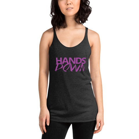 Purple Hands Down Women's Racerback Tank