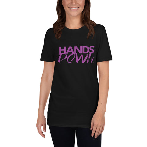 Purple Hands Down Short-Sleeve Unisex T-Shirt
