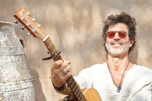 Doyle Bramhall II wearing Garrett Leight California Optical Van Buren Sunglasses