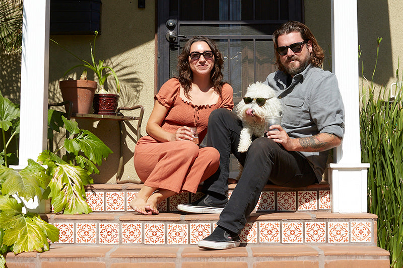 Garrett Leight Design and Marketing Manager on her front porch