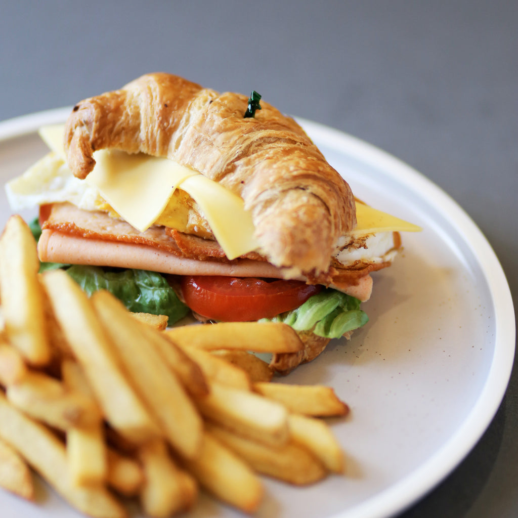 Club Croissant with Fries