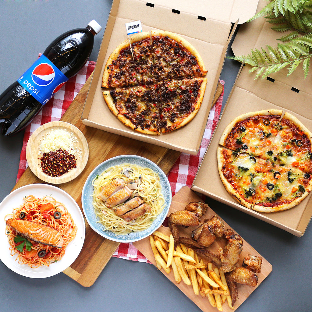 Pizza and Pasta Combo for 3 to 4 Pax