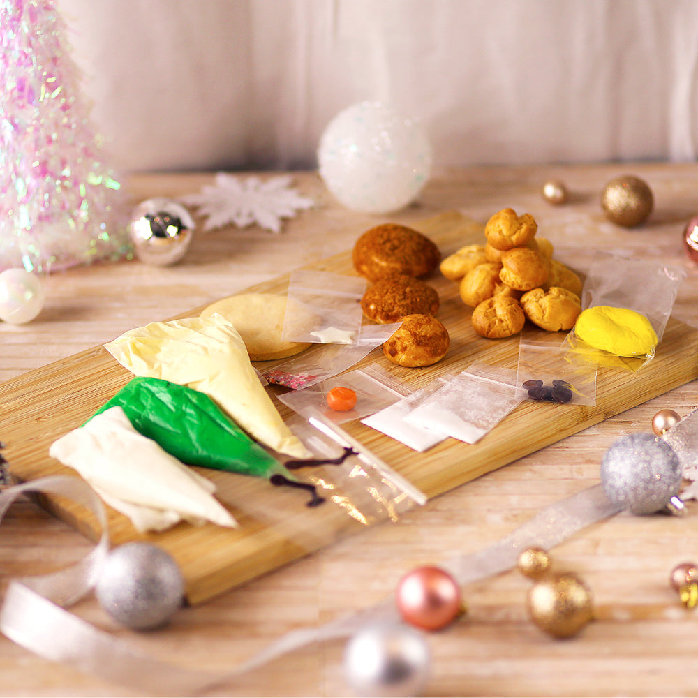 DIY Kit - Christmas Tree and Snowman Cream Puff for 2