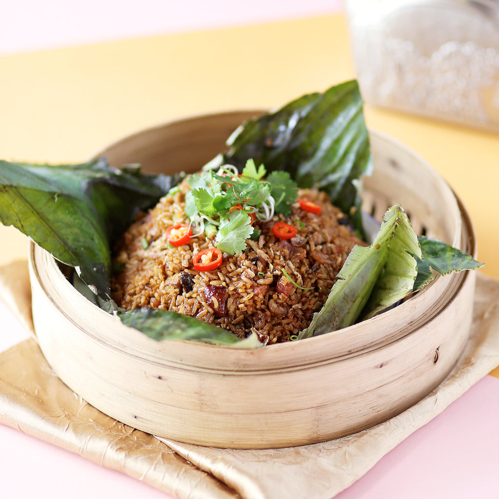 Steamed Glutinous Rice in Lotus Leaf