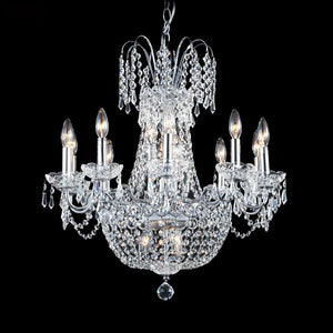 "24"" Chrome with Crystal Chandelier"