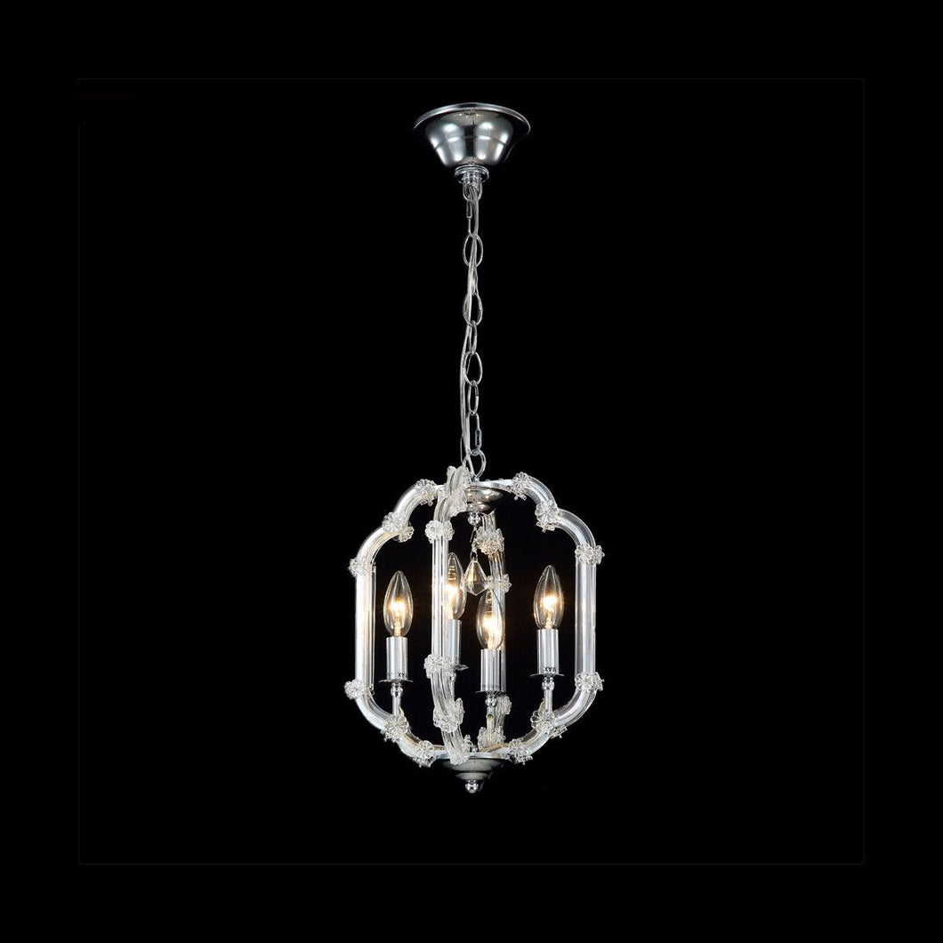 Silver with Crystal Chandelier