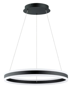 "24"" Black Pendant - LV LIGHTING"