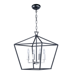 "17.75"" Dark Bronze Chandelier - LV LIGHTING"
