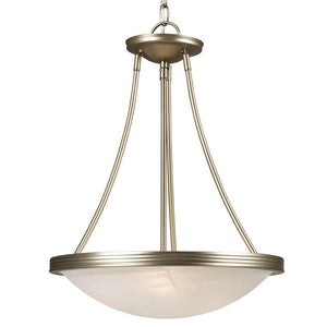 "15"" Pewter with Marbled Glass Pendant - LV LIGHTING"