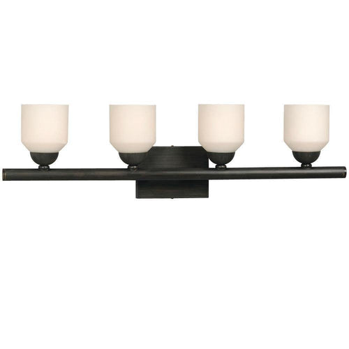 Bronze with Frosted Glass Vanity Light - LV LIGHTING