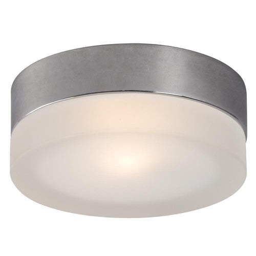 Chrome with Frosted Glass Flush Mount - LV LIGHTING
