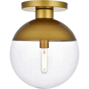 "12"" Brass Flush Mount - LV LIGHTING"