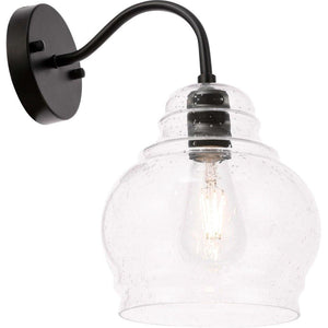 "8"" Black Wall sconce - LV LIGHTING"