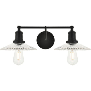 "21"" Black Wall Sconce - LV LIGHTING"