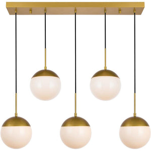 "8"" Brass Pendant - LV LIGHTING"