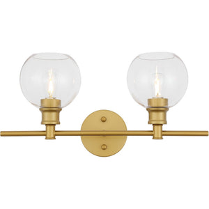 "19"" Matte Gold Wall sconce - LV LIGHTING"