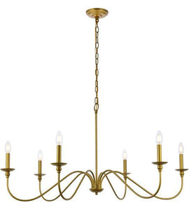 "42"" Brass Chandelier - LV LIGHTING"