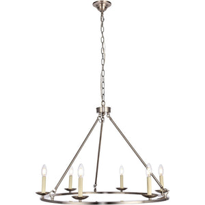 "32"" Nickel Chandelier - LV LIGHTING"