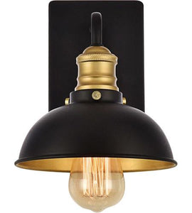 "Black and Gold Wall Sconce 7"" - LV LIGHTING"