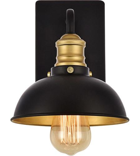 Black and Gold Wall Sconce 7