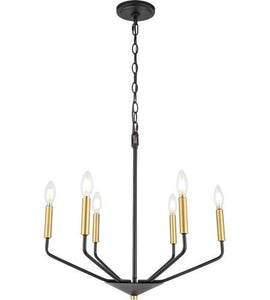 "Gold and Black Pendant 22"" - LV LIGHTING"
