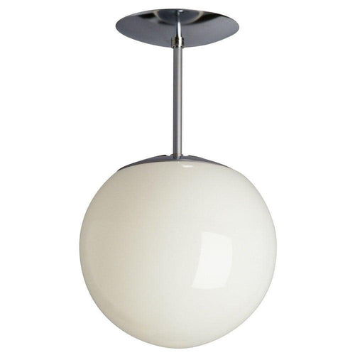 Polished Chrome with White Glass Semi-Flush Mount - LV LIGHTING